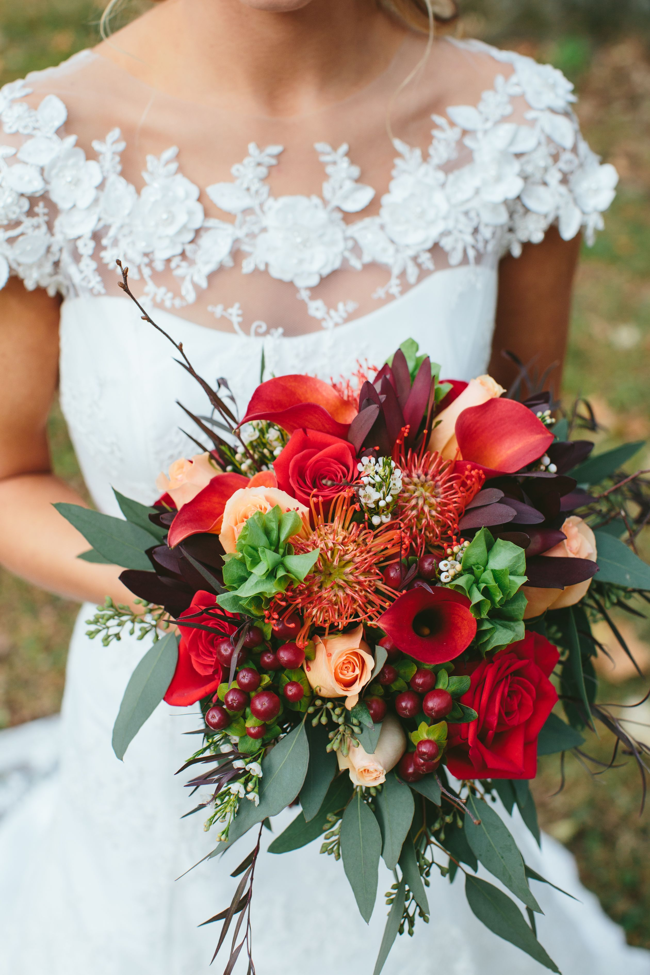 Burgundy Fall Bouquet with Calla Lilies and Eucalyptus | Weddings ...