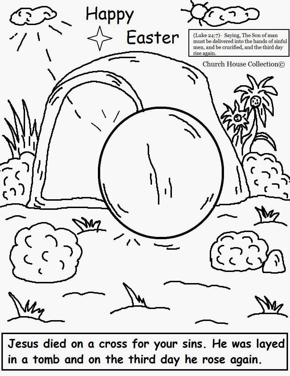 Easter Jesus Resurrection Coloring Pages With Images Easter