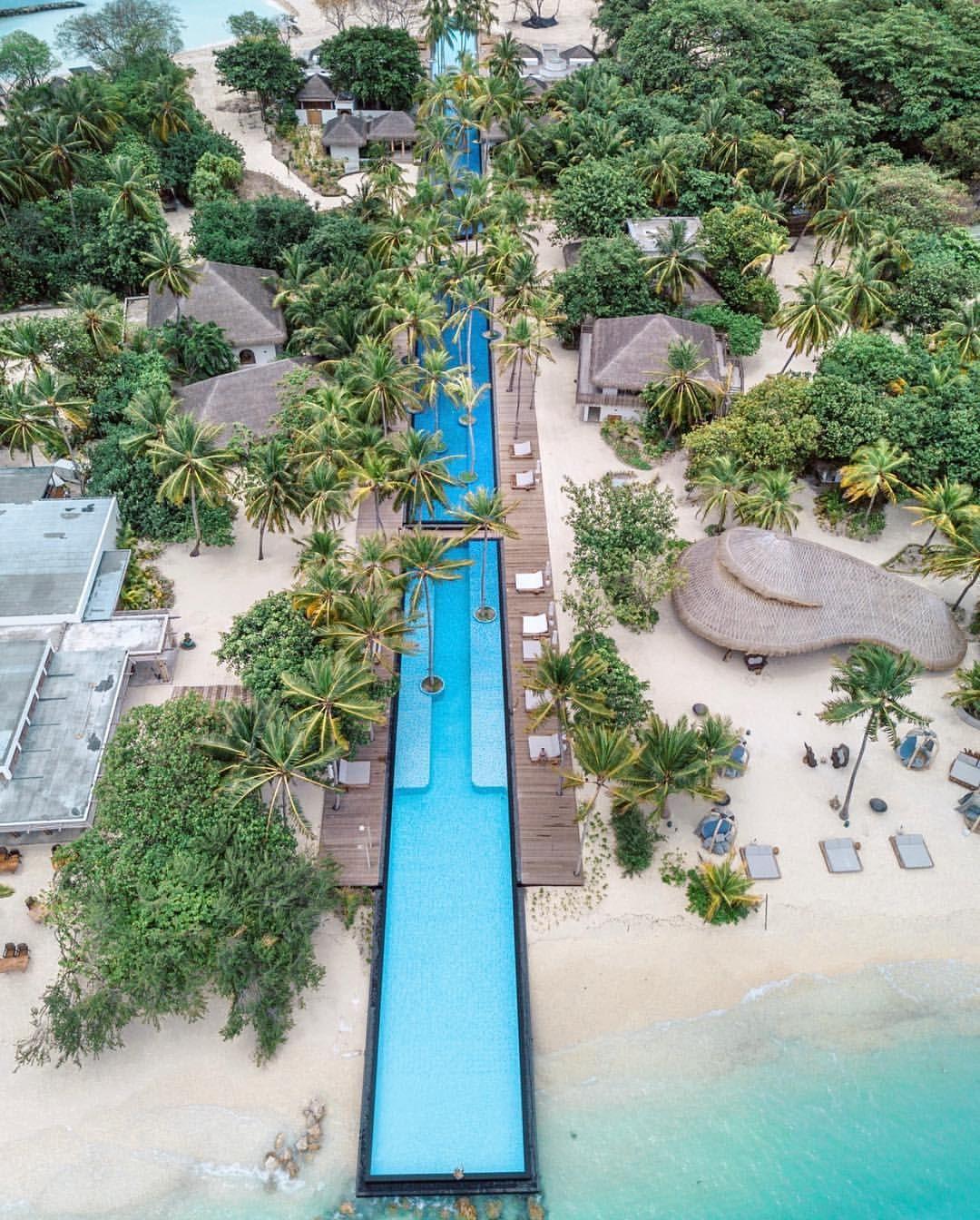 Luxury Pool Villas Maldives: The Longest #pool On The #maldives @fairmont.maldives