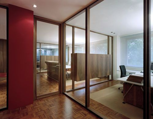 brilliant glass wall with wooden frame 13