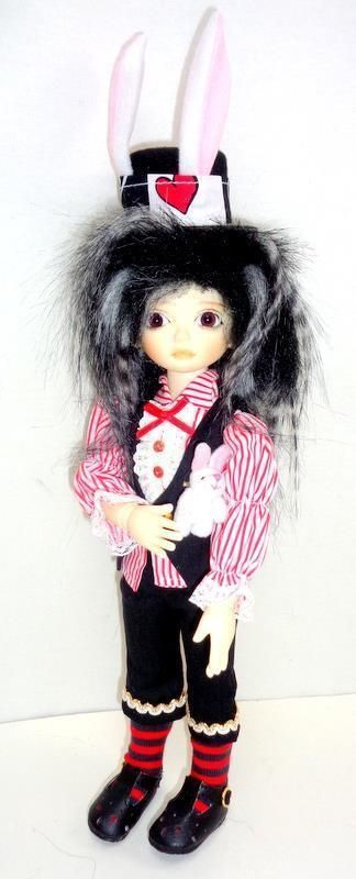 "OOAK The Mad Hatter 11"" Doll Resin YoSD BJD Alice in Wonderland Outfit Fect MIB - Tiny & Anthro"