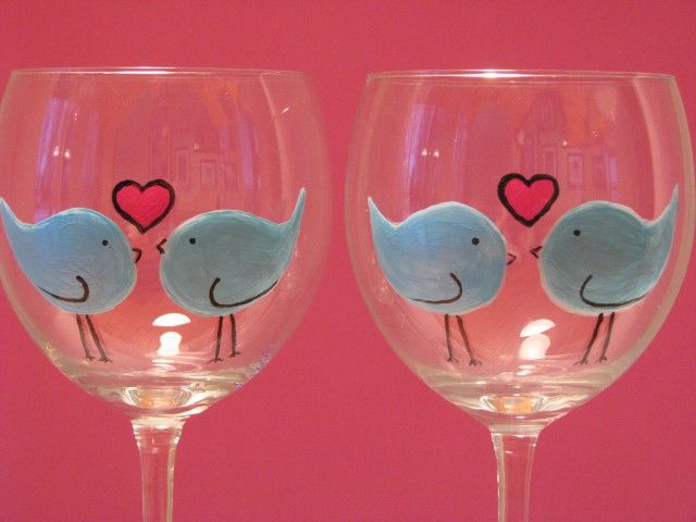 how to bake painted wine glasses