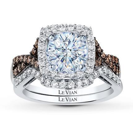 Levian Bridal Setting 5 8 Ct Tw Diamonds 14k Vanilla Gold 2899 99