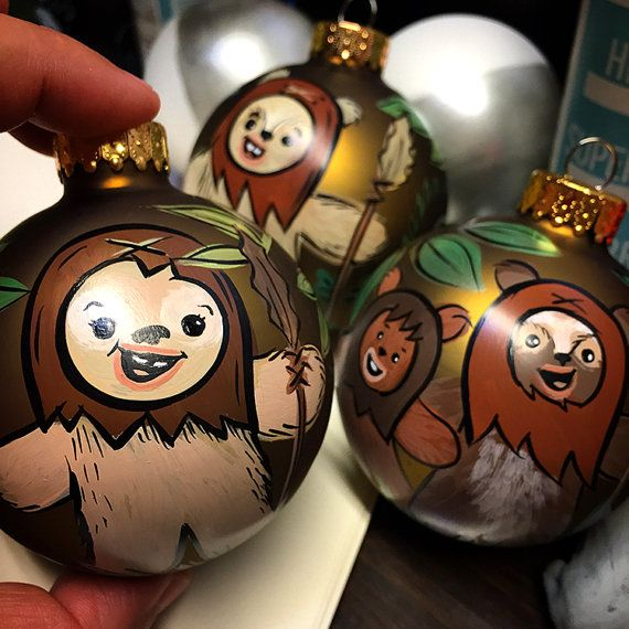Star Wars Christmas Tree Lights: Ewok Handpainted Star Wars Ornament By ArtsyDeniseToo On