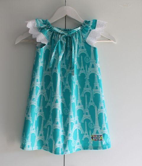 Eiffel Tower Peasant Dress ~ size 3
