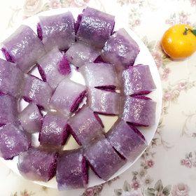 西米紫薯卷