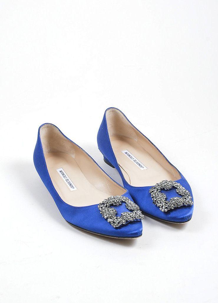 fdb1581960f8 Blue Manolo Blahnik Satin