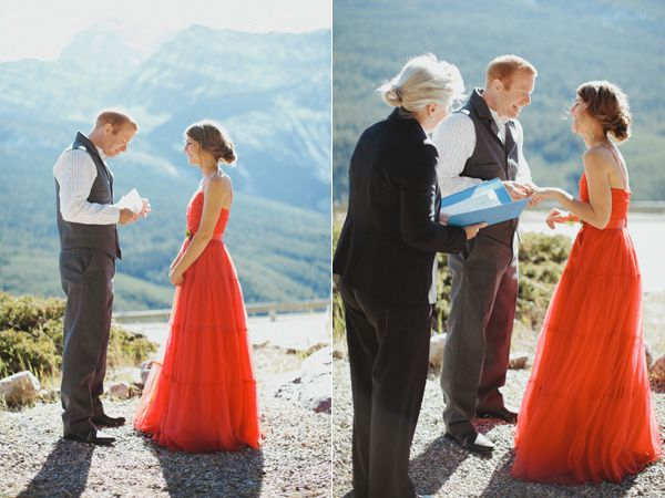Banff National Park elopement - what a dress!