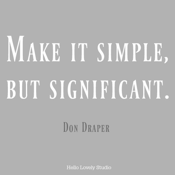 Quote about simplicity.