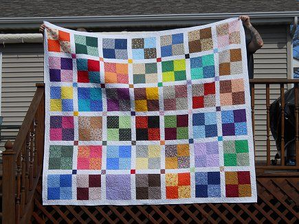 4 Patch With White Sashing And Little Squares Great For Stash Busting Quilt Patterns Quilts Batik Quilts
