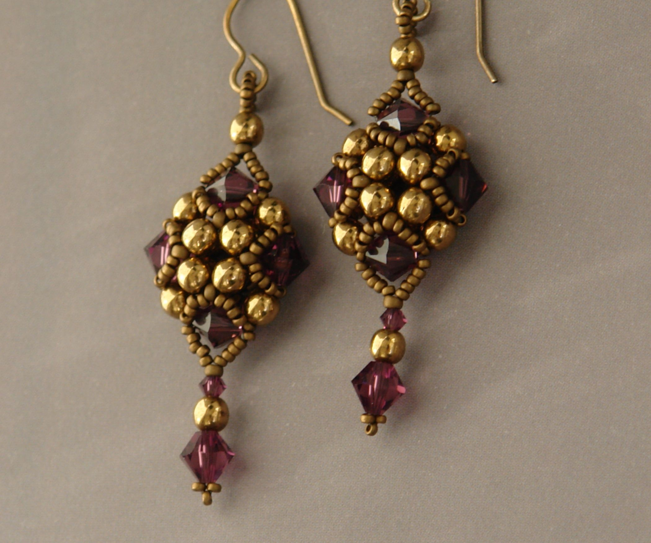 Sidonia S Handmade Jewelry Beaded Art Deco Style Earrings