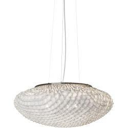 Photo of Arturo Alvarez designer pendant lamp Tati Ø 57cm in white Tati Ta04 white cable transparent living light