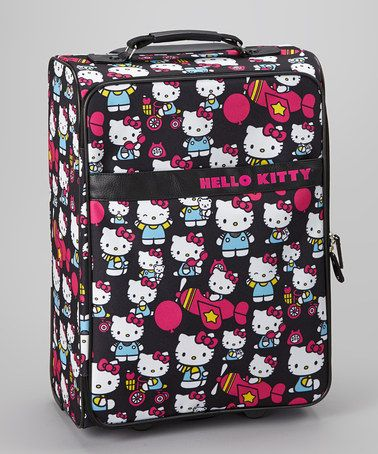 Take a look at this Black Hello Kitty Rolling Suitcase by Hello Kitty on #zulily today!