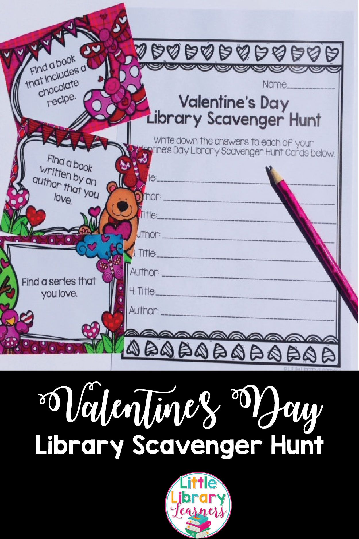 Library Scavenger Hunt Valentine S Day Themed