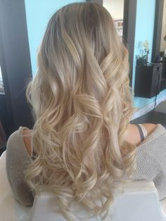 Light Blonde Balayage Ombre Full Head Of SoCap Hair Extensions