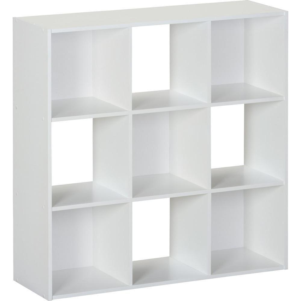White 9 Cube Storage Organizer