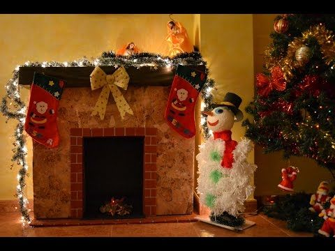 Download video diy chimenea de carton para navidad for Finto camino natalizio