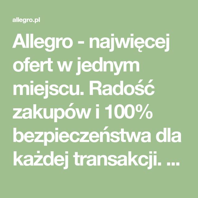 Allegro Najwiecej Ofert W Jednym Miejscu Radosc Zakupow I 100 Bezpieczenstwa Dla Kazdej Transakcji Kup Teraz Math Math Equations Diy And Crafts