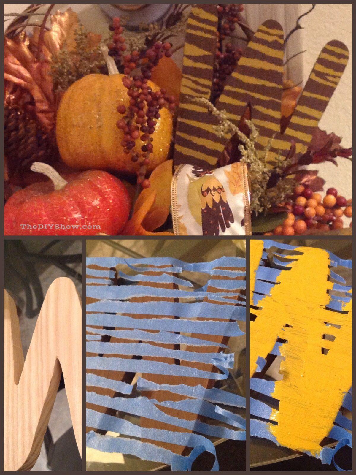 #diy fall #falldecor #fallingforfall  DIY animal print fall wreaths how to paint animal print #followme