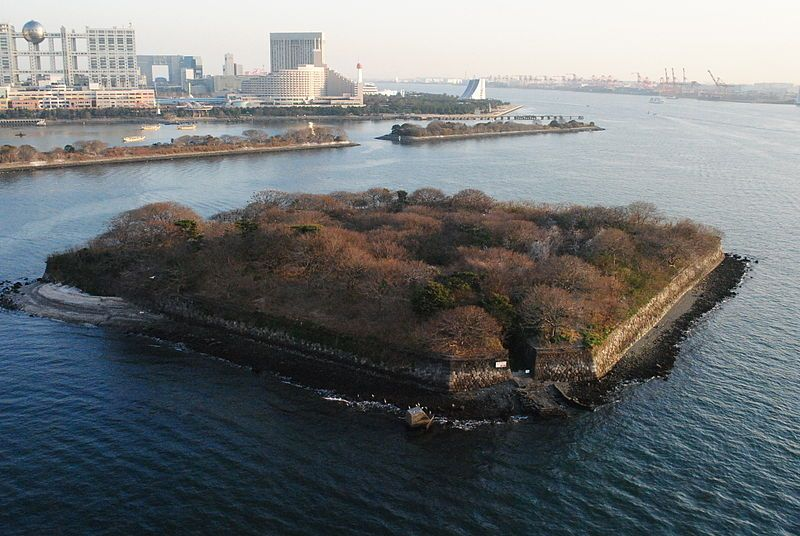 Da Iroku Daiba Odiaba Island Tokyo Bay Japan Battery Defense Island Artificial Islands