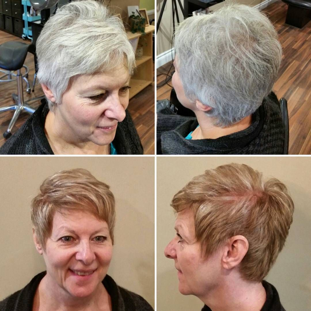 """What a dramatic change for my beautiful client on Sunday! So nice to warm things up for Fall! #wella"" ~ Chemistry Hair by Carley Roth"