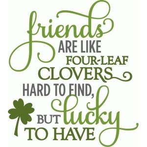 Silhouette Design Store: Friends Four-leaf Clover - Layered Phrase