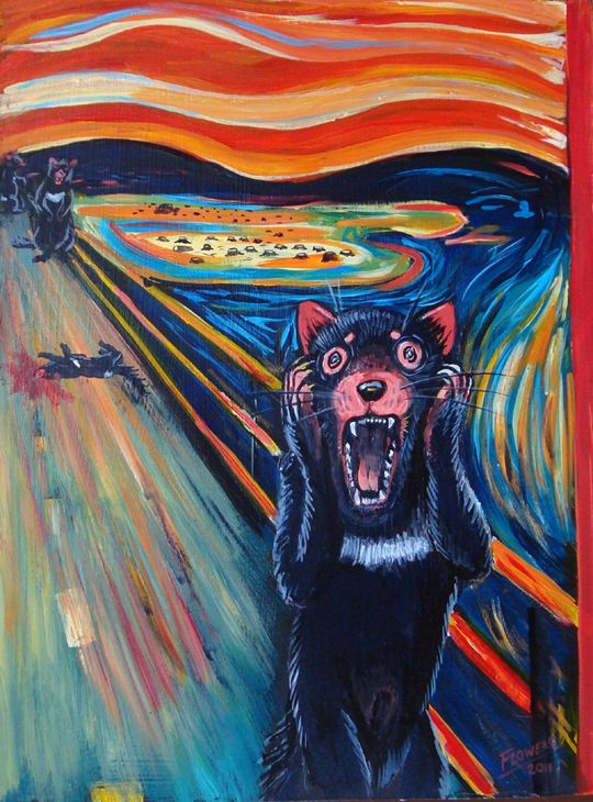 the scream painting parody google search a girl
