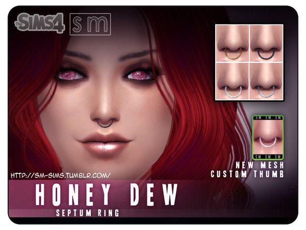The Sims Resource: Septum Ring Piercing by Screaming Mustard � Sims 4 Downloads