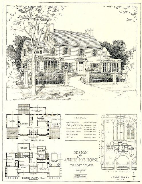 1917 Architectural Design for a $12,500 House | Content in a Cottage ...