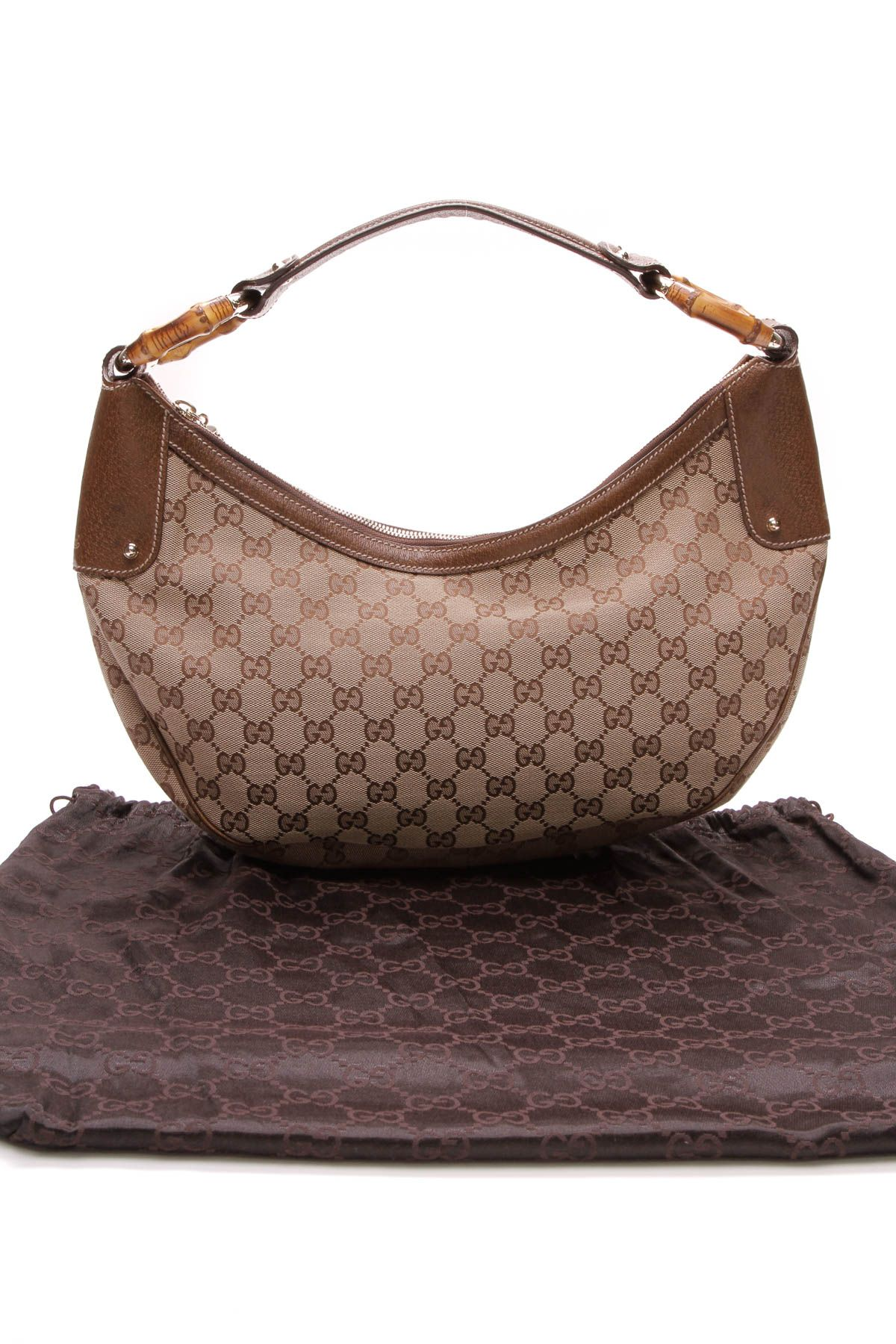 2de9d95b1f04fe Gucci Bamboo Ring Hobo Bag - GG Canvas   Gucci Glam   Gucci bamboo ...
