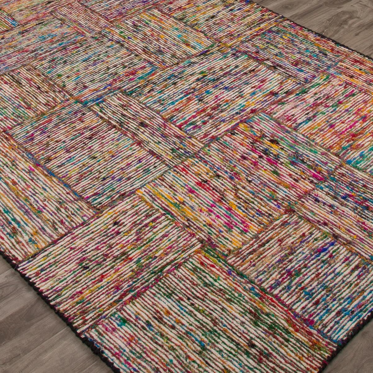 Hand Woven Recycled Material Rug Diy Carpet Rugs Woven Tapestry Art