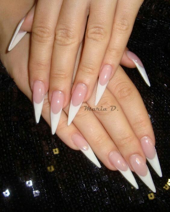 French stiletto nails | 3. Double Team + Dynamicpunch Amazing ...