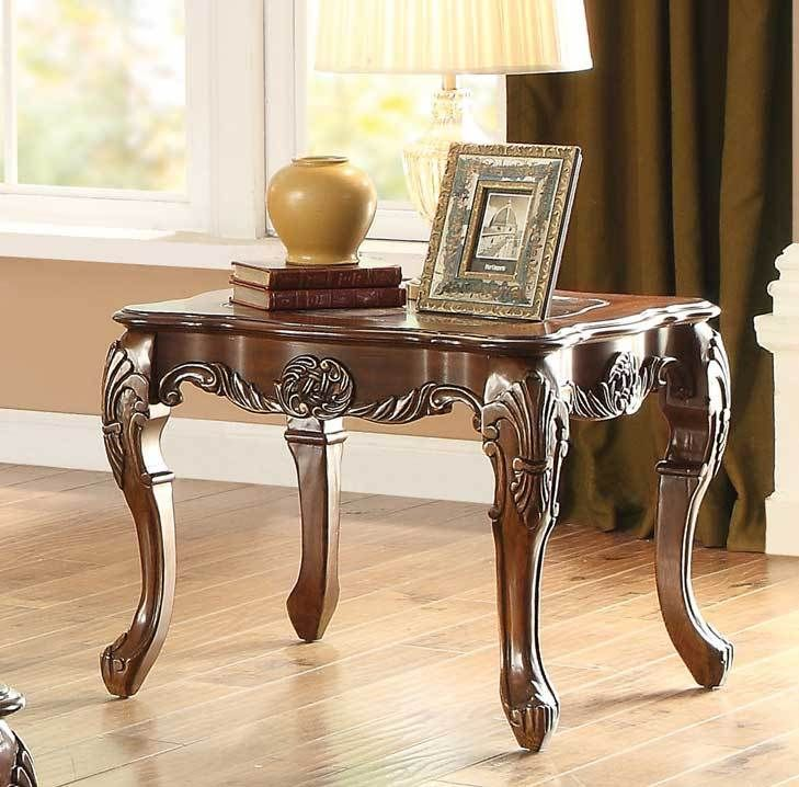 Best Homelegance 3547 04 Logan Cherry Wood Finish End Table In 400 x 300