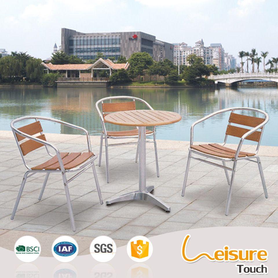 Enjoyable Circular Outdoor Garden Cafe Furniture Plastic Wood Aluminum Home Remodeling Inspirations Genioncuboardxyz