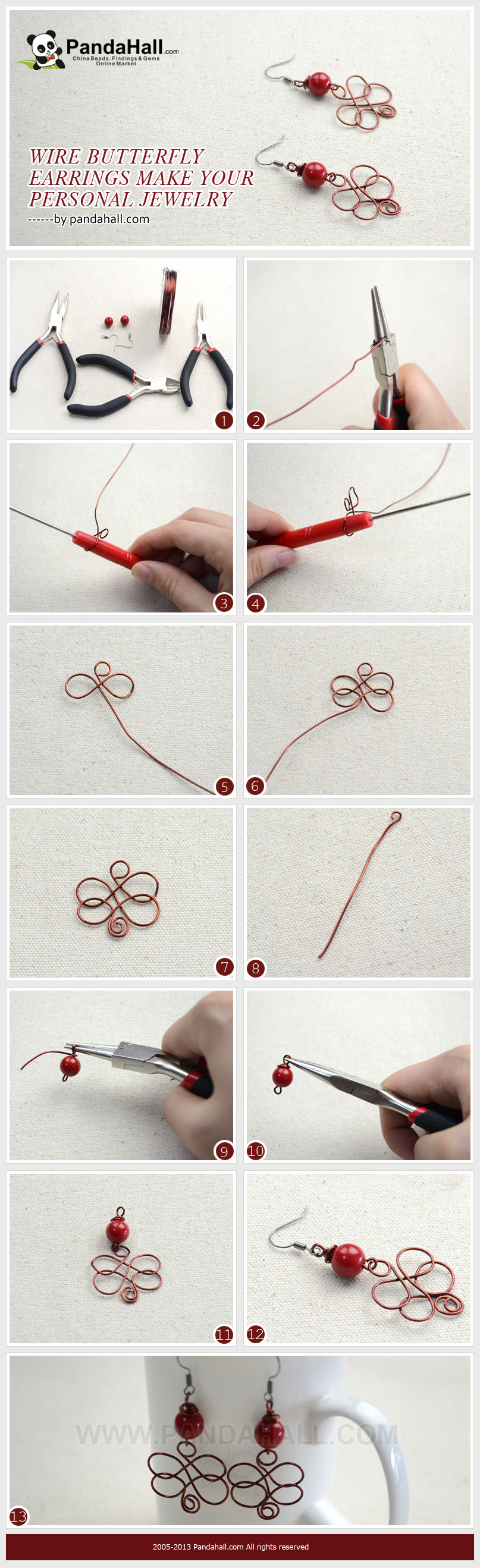 3 easy steps for you to make wire butterfly earrings; this earring ...