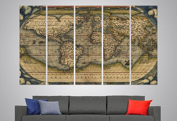 Ancient large worldmap walldecor els wall art typus orbis terrarum ancient large worldmap walldecor els wall art typus orbis terrarum old world map wall hanging detailed world map office decor large canvas pri gumiabroncs Image collections