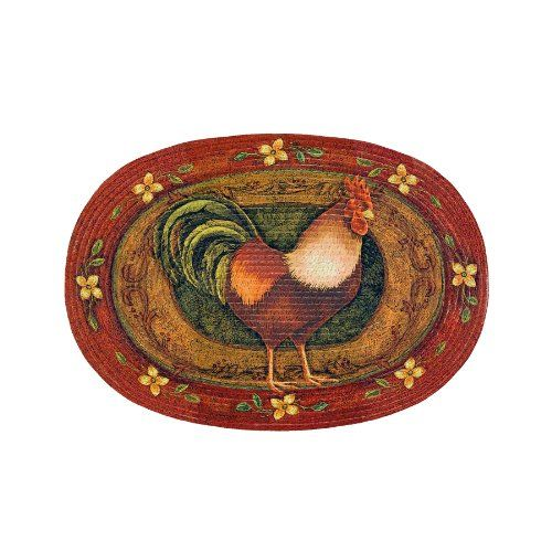 Achim Home Furnishings Braided Rug 20 Inch By 30 Rooster Rugs Kitchen Decor Area