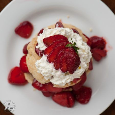 Classic Strawberry Shortcake, made with fresh strawberries, homemade biscuits, and whipped cream is the easiest and most perfect summer dessert!