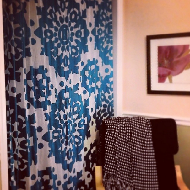 Love My Dark Teal And White Urban Outfitters Curtain To