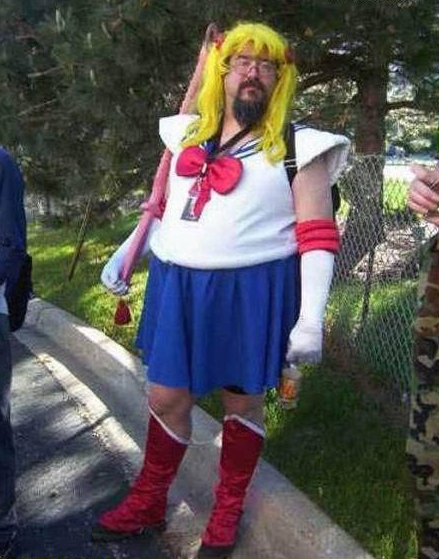 Fat Guy In A Sailor Moon Costume Wtf Anime O Super Funny