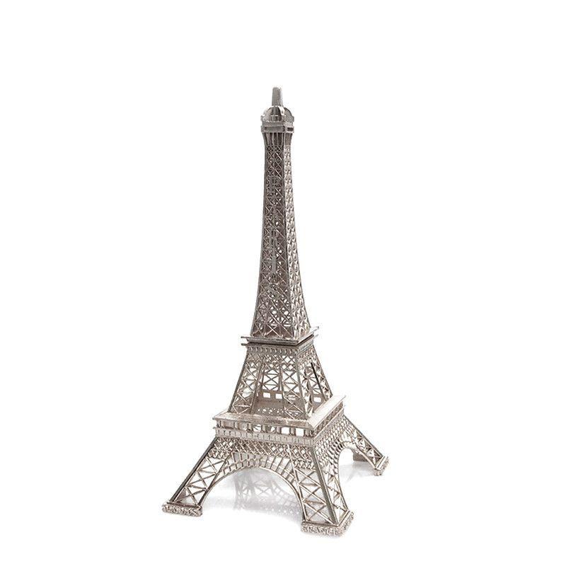 Paris France Eiffel Tower Stand, 10-inch, Silver France eiffel