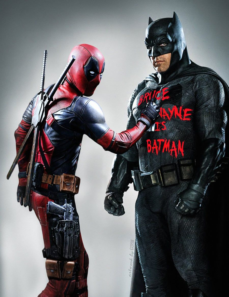Deadpool And Batman 900x1166