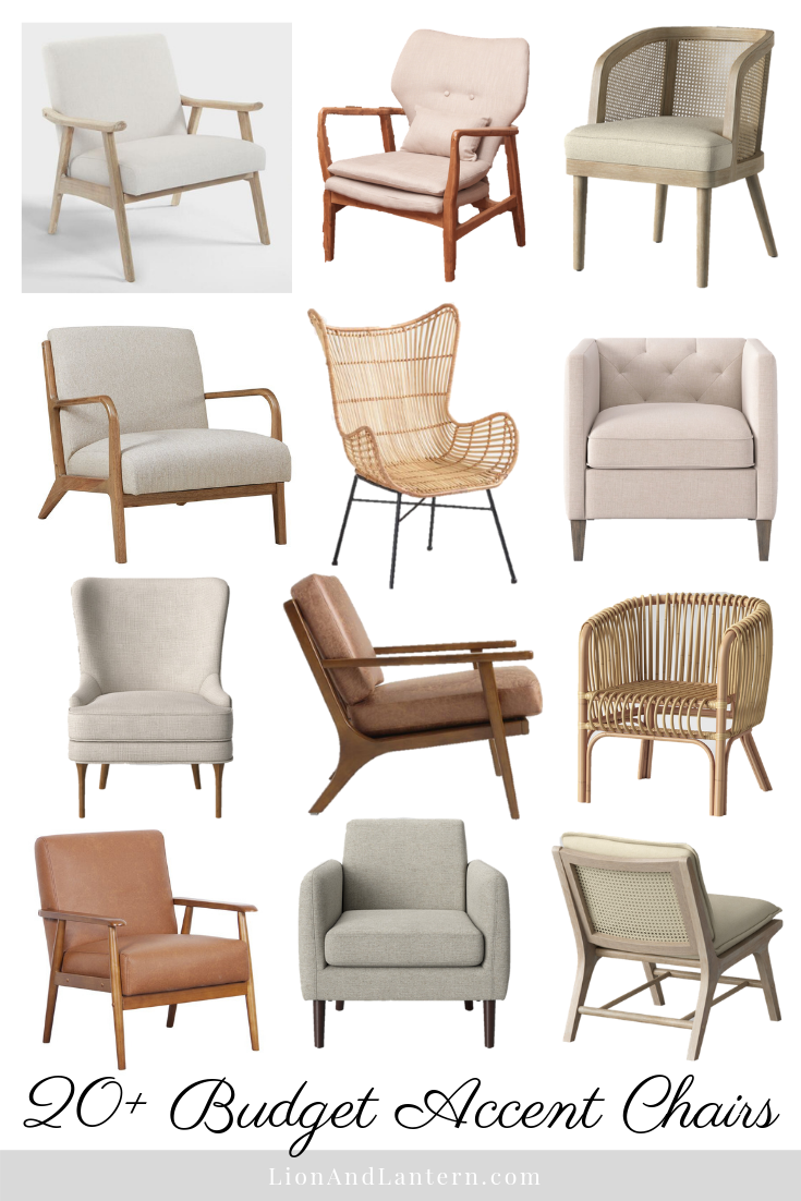 20+ budget accent chairs for the casual, modern, and neutral