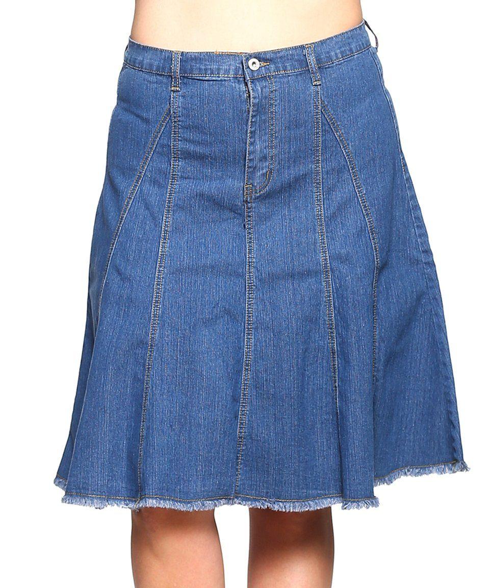 b4ac4ed4b Take a look at this Medium Indigo Denim A-Line Skirt - Women & Plus today!