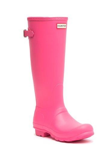 Hunter Original Tall Adjustable Back Waterproof Rain Boot