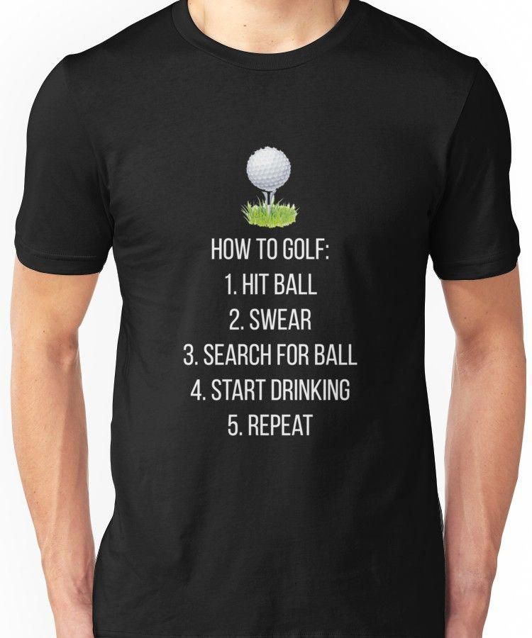 'Funny Golf How To Play' T-Shirt by TrendJunky #golfhumor