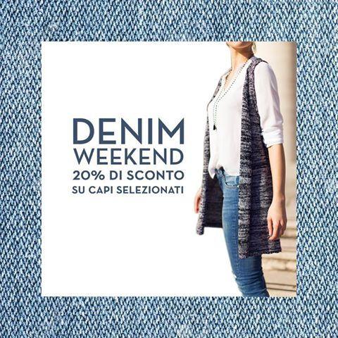 The Denim Weekend! Da venerdì 6 maggio sconto del 20% su capi selezionati in #DENIM in tutti gli Stores I AM! #iamstores #shopping