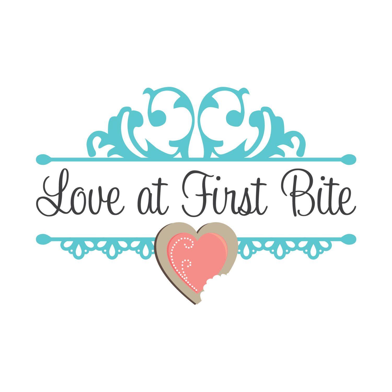 Love Logo Heart Design With Vintage Damask Illustrations Custom Business Branding