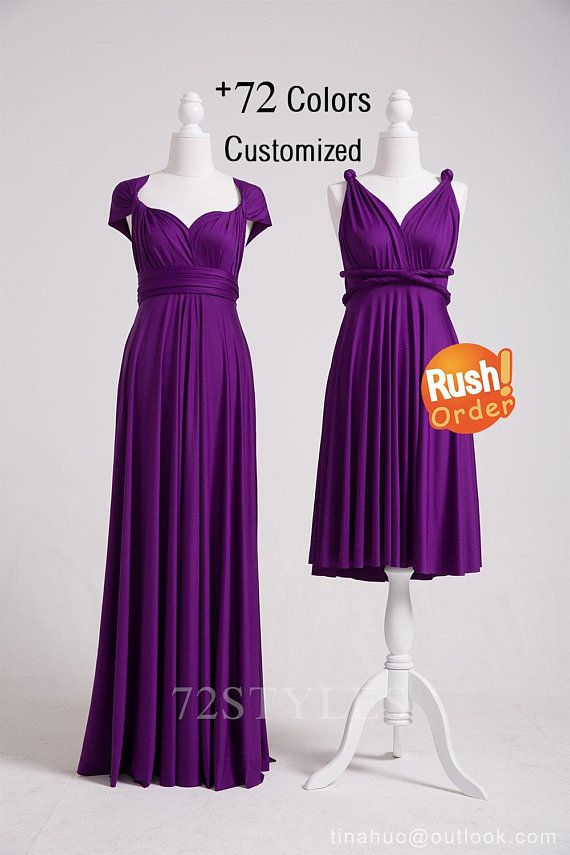 Infinity Dress Purple, Infinity Dress Short, Infinity Dress Long ...