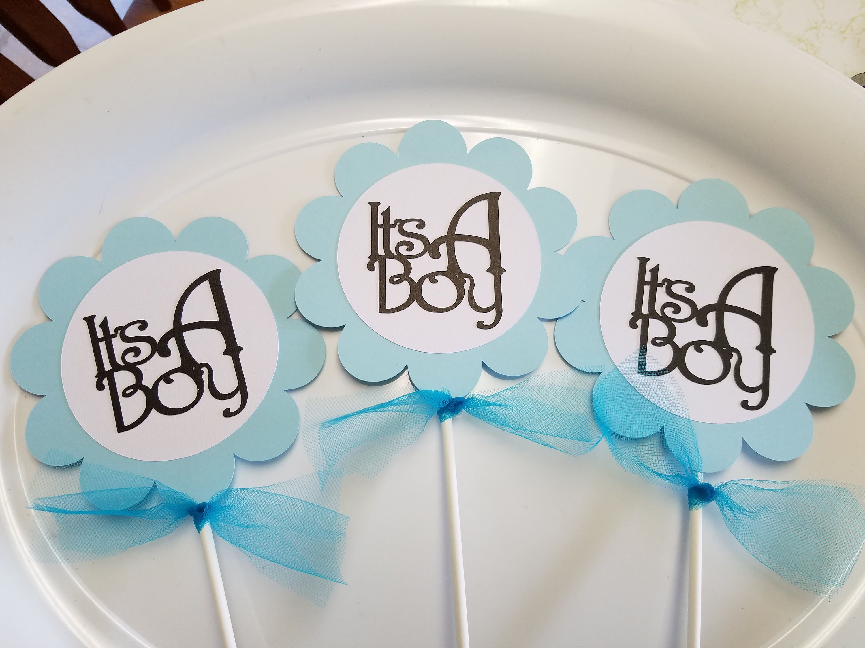 It S A Boy Centerpiece Flower Centerpiece Sticks Baby Shower By Mindyspaperpiecing On Etsy Flower Centerpieces Centerpieces Baby Shower
